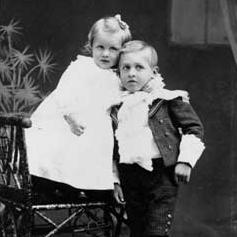 Photo of two children