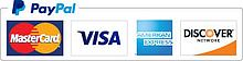 PayPal accepts MasterCard, Visa, American Express and Discover cards